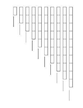 Montessori Math Number Rods - Printable Colouring sheet