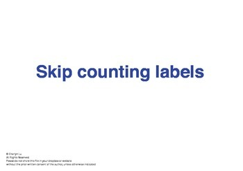 Montessori Math - Skip Counting labels