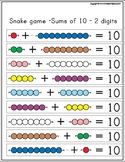 Montessori Math Beads Snake Game Sums of 10  -  2 digits