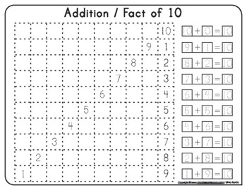 Montessori Math Square Stair Fact of 10