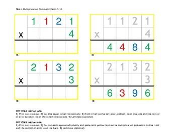 1-Digit Multiplier Montessori Multiplication Command Cards & Control of Error 1