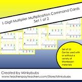 1-Digit Multiplier Montessori Multiplication Command Cards