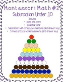 Montessori Math Subtraction (Bead Bar Subtraction)