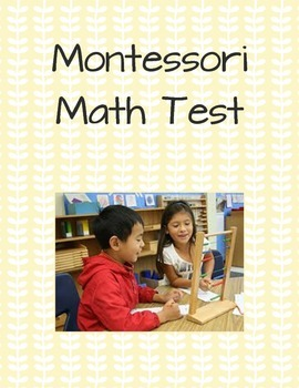 Montessori Math Test