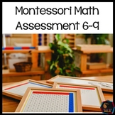 Montessori Math Test for assessment ages 6-9
