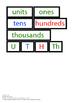 Montessori Math - place value worksheet