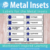 Montessori Metal Inset Labels