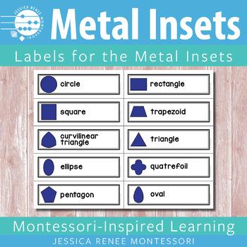 Montessori Metal Inset Labels