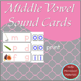 Montessori - Middle Vowel Sound Cards - Print