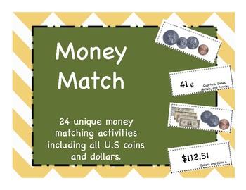 Montessori Money Match Activities