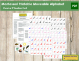 Montessori Moveable Alphabet Cursive (with instructions)