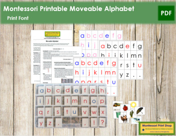Montessori Moveable Alphabet Print (with instructions)