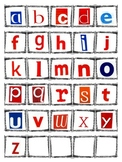 Montessori Moveable Alphabet Tiles, Magazine Letters, Lowercase a-z, Word Work