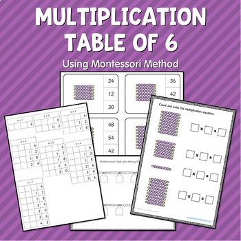 Montessori Multiplication Worksheets BUNDLE