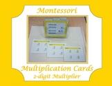 Montessori Multiplication Cards ~ 2-digit Multiplier