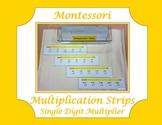 Montessori Multiplication Strips ~ Single Digit Multiplier