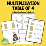 Montessori Multiplication Table of 4