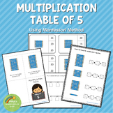 Montessori Multiplication Table of 5