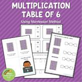 Montessori Multiplication Table of 6
