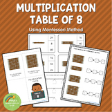 Montessori Multiplication Table of 8