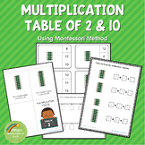 Montessori Multiplication Tables of 2 and 10