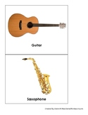 Montessori Musical Instrument Picture Cards - For use with