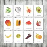 Montessori Nomenclature Cards | Flash Cards | 3 Part Cards | Fruits