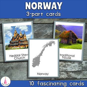 Norway Montessori  3-part Cards