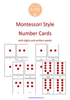 Montessori Number Cards