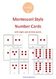 Montessori Number Cards