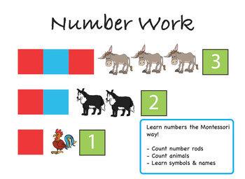 Montessori Number Farm   Numbers 1 - 10   Multimedia eBook   iOS Devices & MAC