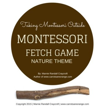 Montessori Number / Object Fetch Cards - Nature Theme