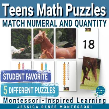 Montessori Number Puzzles Teens