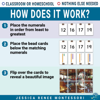 Montessori Puzzles for Practicing the Teen Numbers