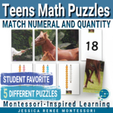 Montessori Math Puzzles for Practicing the Teen Numbers