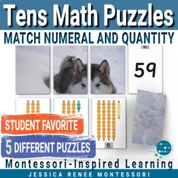 Montessori Number Puzzles Tens