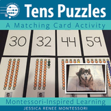 Montessori Math Puzzles for Practicing Numbers in the Tens