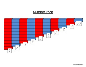 Montessori Number Rods Worksheet