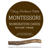Montessori Numeration Cards - Nature Theme