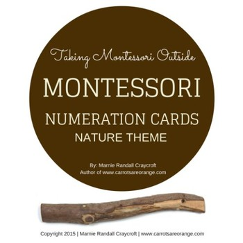 Montessori Numeration Cards - Nature Theme