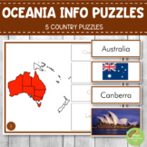 Montessori Oceania Country Facts Puzzles