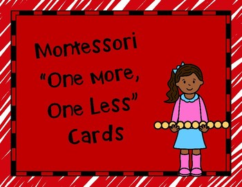 Montessori One More, One Less Cards
