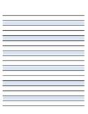 Montessori Paper - Blue