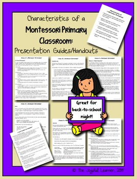 Montessori Parent Orientation: Presentation Guides and Handout