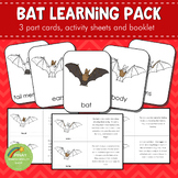 Montessori Parts of a Bat 3 Part Cards