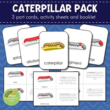 Montessori Parts of a Caterpillar Learning Pack