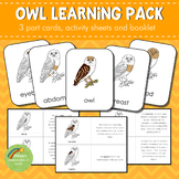 Montessori Parts of an Owl 3 Part Cards
