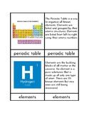 Montessori Periodic Table - Three/Four Part Cards