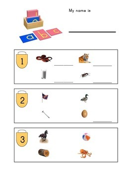 Montessori Phonics Sound Baskets Record