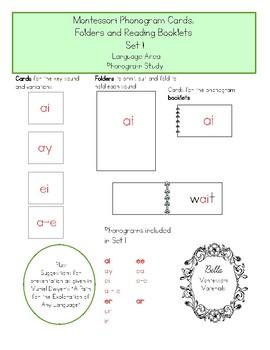 Montessori Phonogram Folders And Booklets - Set 1